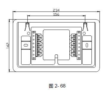 海湾火灾显示盘楼层显示器zf-101_安装接线图