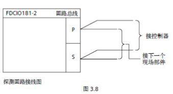西门子监视模块FDCI181 2 端子接线图
