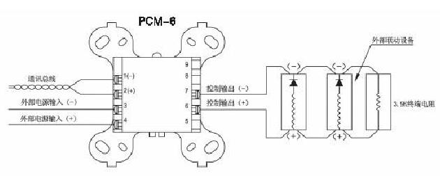 保得威尔pcm-6输入输出控制模块接线图
