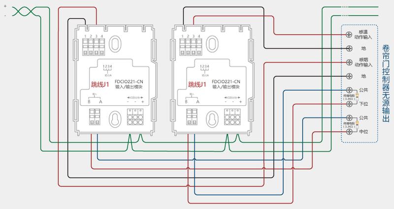 西门子fdcio221-cn输入输出模块卷帘门控制器接线图