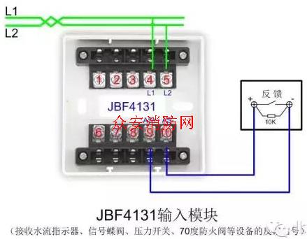 北大青鸟输入模块jbf4131接线示意图