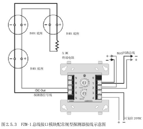 诺蒂菲尔km-fzm-1c普通探测器接口模块接线图